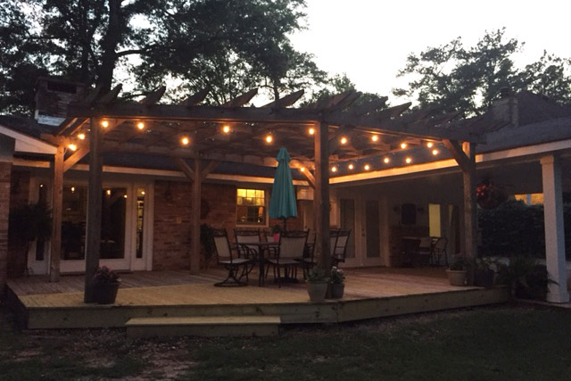 Deck Patio After Repair With Italian Lights