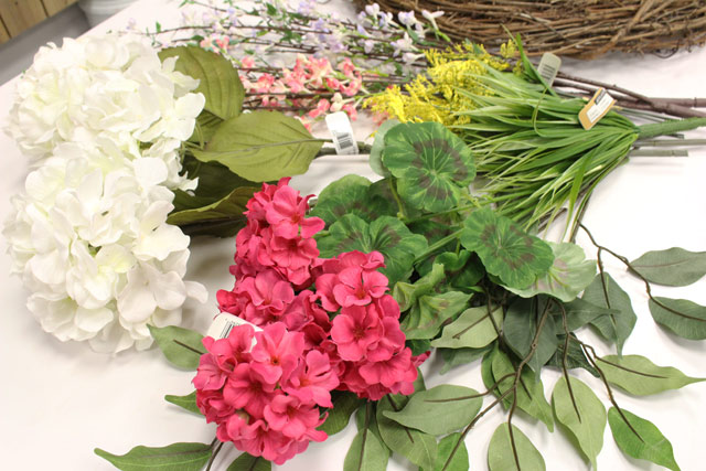 Fake Flower Stems from Craft Store