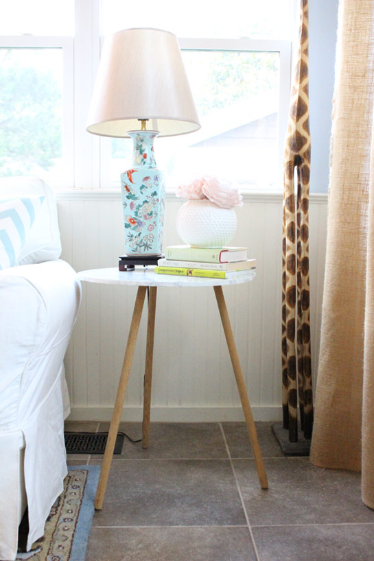Faux Marble End Table Makeover