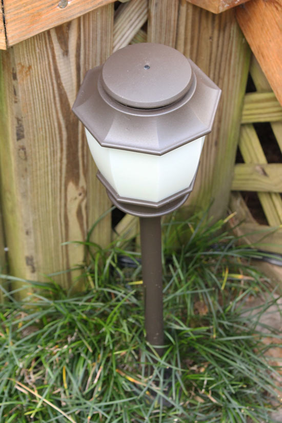 Haven Light Fixture by Deck Stairs