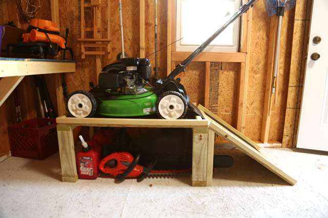 Lawn Boy Mower On Storage Caddy