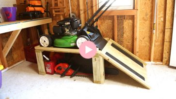 Lawn Mower Storage Caddy Complete