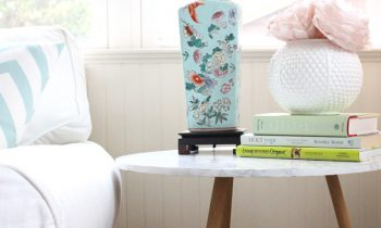 Marble Contact Paper Table Redo