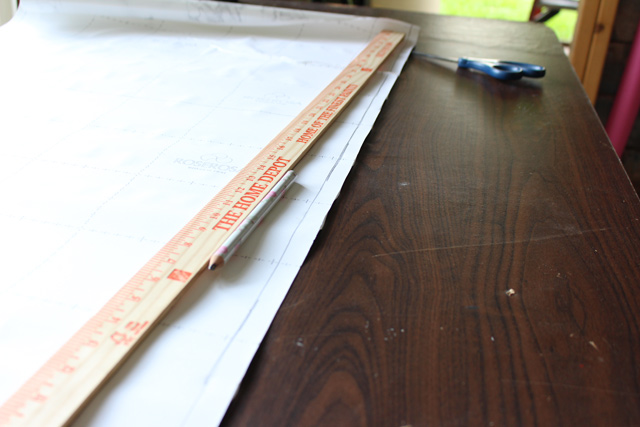 Marking to Cut Edge Band of Table