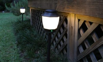 Mosquito Repellent Light Fixtures at Dusk
