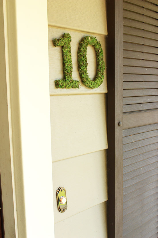 New House Numbers with Doorbell