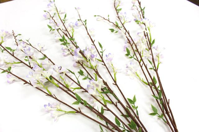 Purple Flower Stems Before Cutting