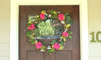 Summertime Floral Wreath Complete