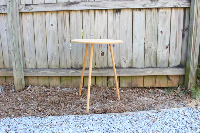 Thrift Store End Table Before Makeover