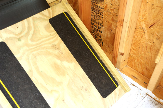 Treads Used on Storage Caddy Ramp