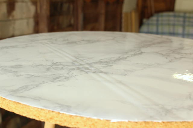 Wrinkle in Top of Marble Table