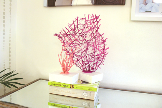 DIY Decorative Coral Decor | Checking In With Chelsea