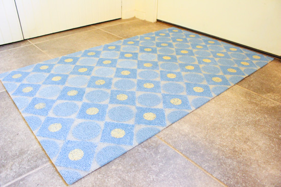 Completed Rug in Sunroom