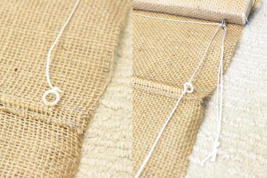 Drapery Cord Through Plastic Rings on Back