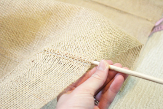 Diy Burlap Roman Shades Checking In With Chelsea