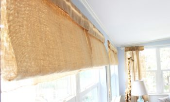 How To Make Roman Shades From Table Runners