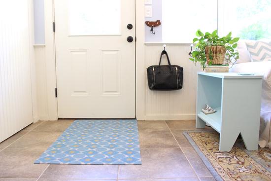 Painted Door Mat for Back Door Entry