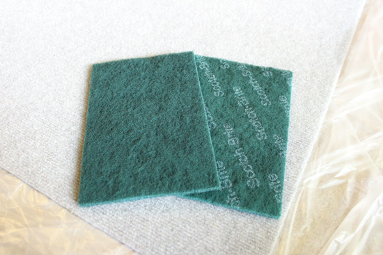 Scour Pad Used as Stamp