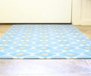Stamped and Painted Entry Rug