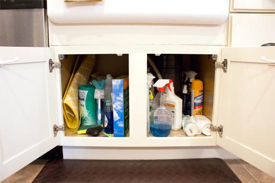 Cabinet Under White Kitchen Sink