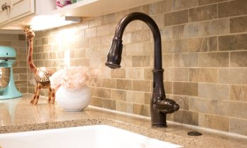 Kitchen Faucet Installed on Quartz Countertop