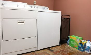 white washer and dryer before updates and upgrades