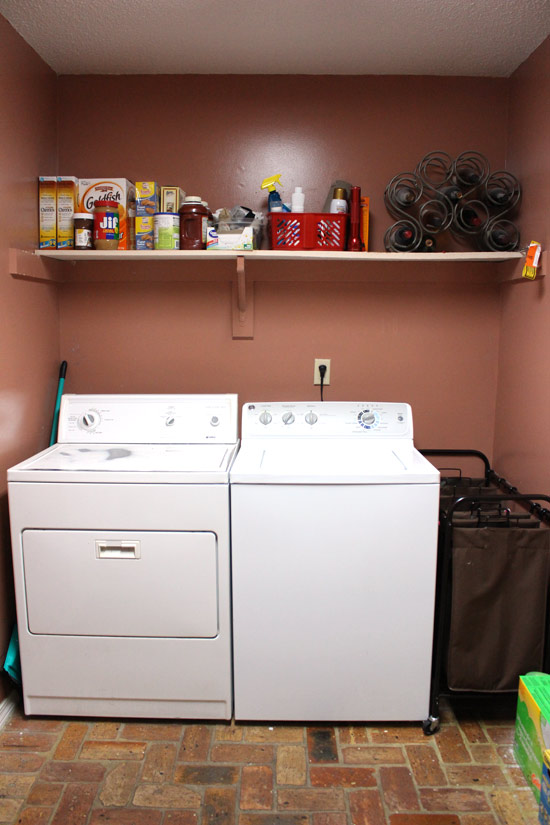 Ordinary Installing Cabinets In Laundry Room Part - 5: Washer And Dryer Side Of Laundry Room Before Updates