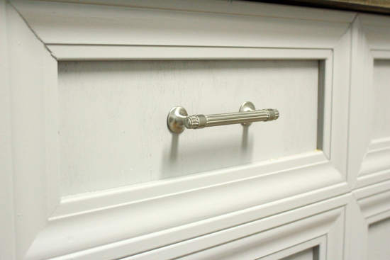 Satin Nickel Dresser Drawer Pulls from Amerock