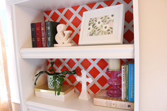 Making Over Bookcase with Stock Molding