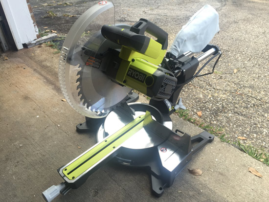Miter Saw Used for Cutting Trim