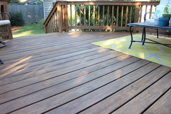 Deck After Cleaning and Stain Touchup