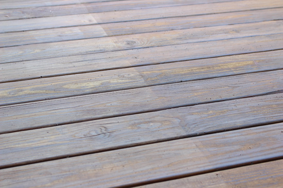 Discoloration in Deck From Sun Damage