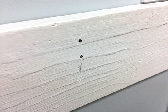Holes Marked for Hook Bracket