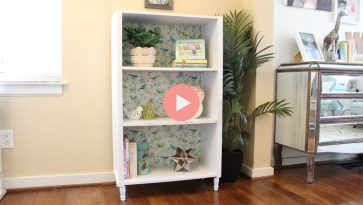Particle Board Bookcase After Makeover