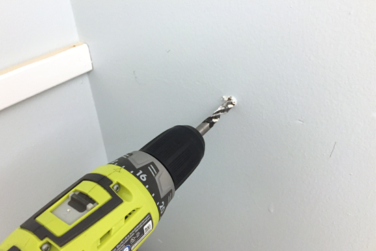 Drilling Hole for Toggle Bolt Into Drywall