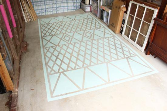 Garage Floor Rug with Storage on Edges