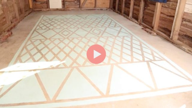 How To Paint Garage Floor Like A Rug