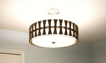 Cutler Light Fixture After Completed Installation cirus collection