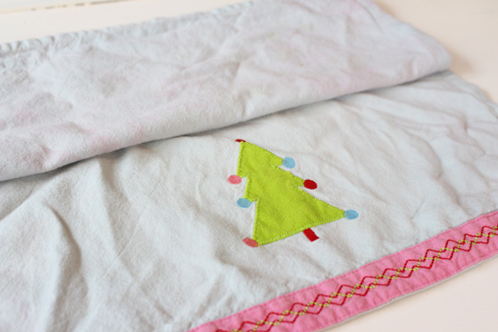 Christmas Hand Towel Before Upcycle