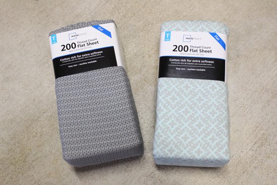 Flat Sheets Used as Drop Cloths