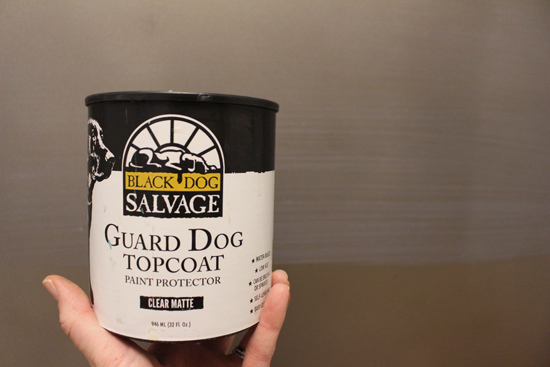 Guard Dog Topcoat for Washer and Dryer black dog salvage woodcraft