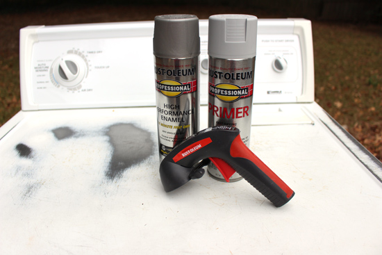 Rust-Oleum Spray Primer and Paint Used on Washer and Dryer