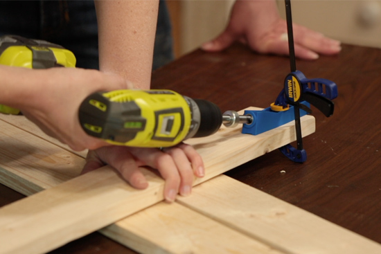 Using Jig to Drill Pocket Holes