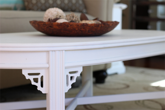 Creamy White Chalk Paint Coffee Table