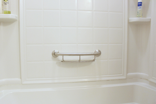 Grab Bar with Shelf After Installation