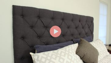 Completed DIY Tufted Headboard King-Sized Bed