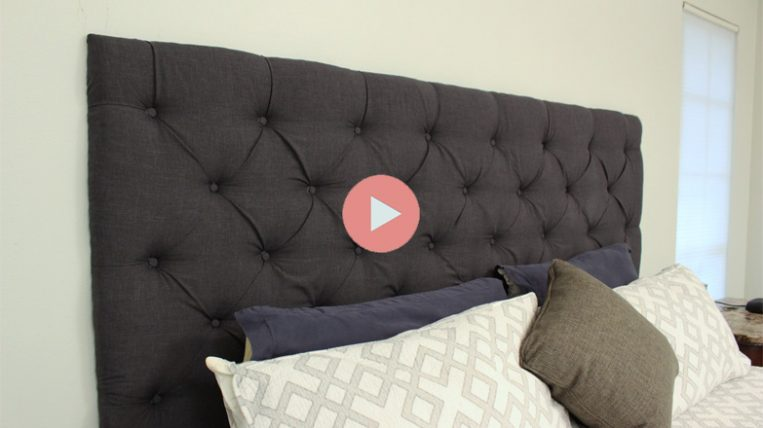 Completed DIY Tufted Headboard King Bed 1 763x428 How To Make A Tufted Ottoman From A Coffee Table
