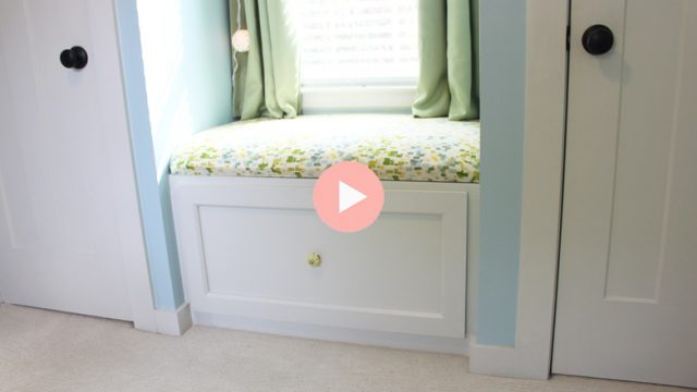 DIY Built-In Window Seat with Cushion