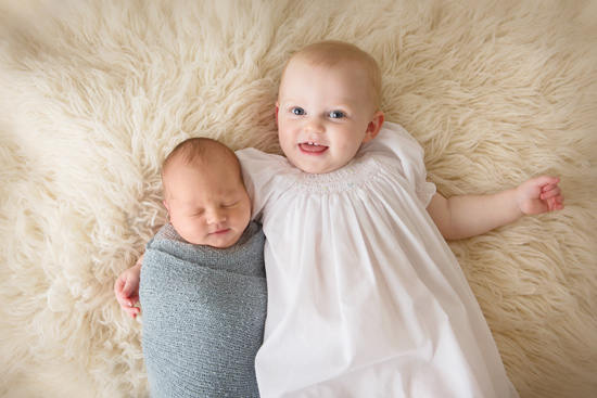 Mary Helen and Gus Newborn Photo
