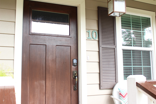 Front Porch After Painting House Numbers